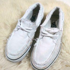 Vans Raw Edges White Sneakers Size 6.5